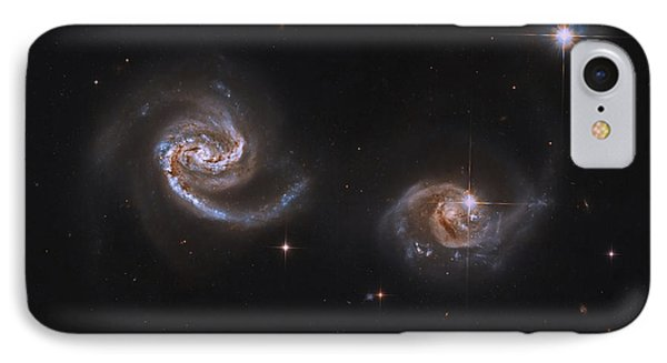 A Pair Of Interacting Spiral Galaxies Phone Case by Roberto Colombari