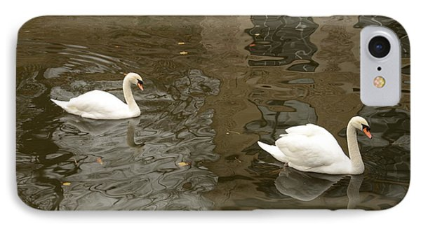 IPhone Case featuring the photograph A Pair Of Swans Bruges Belgium by Imran Ahmed