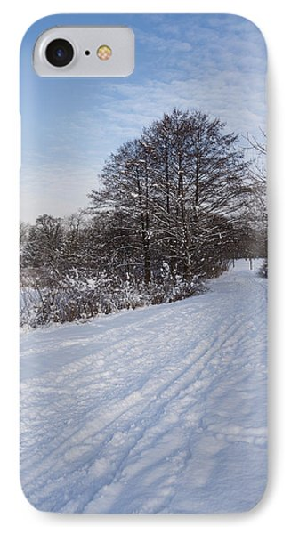A Pale Blue Snowday  IPhone Case