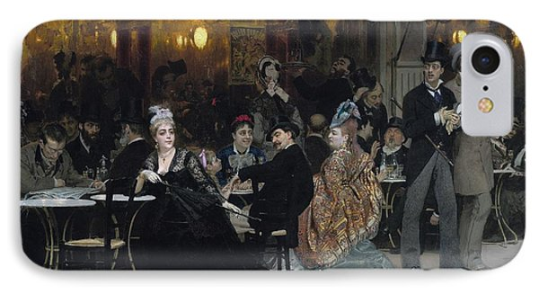 A Parisian Cafe IPhone Case by Ilya Efimovich Repin