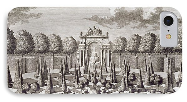 A Parterre With Orange Trees In The Garden Of The Lichtenstein Palace IPhone Case by Salomon Kleiner