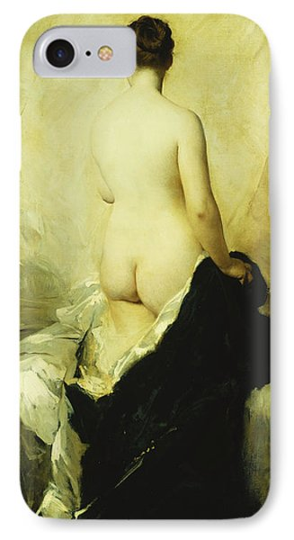 A Partially Draped Nude IPhone Case