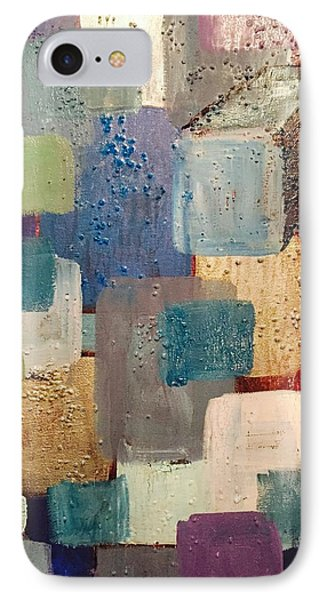 A Patchwork Of Blues IPhone Case by Edward Paul