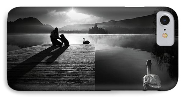 A Peaceful Morning At The Lake IPhone Case