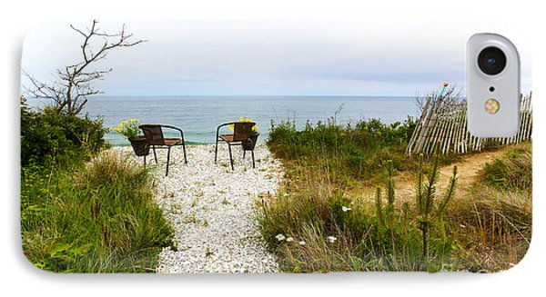 A Peaceful Respite By The Shore Phone Case by Michelle Wiarda
