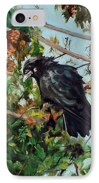 A Perch For Nevermore IPhone Case by Pattie Wall