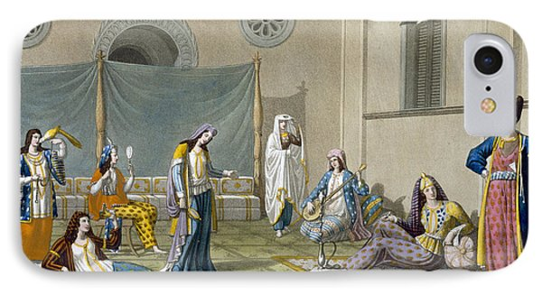 A Persian Harem, From Le Costume Ancien IPhone Case by G. Bramati