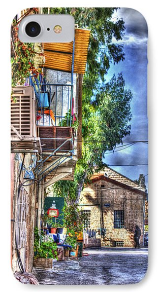 A Picturesque Street IPhone Case by Uri Baruch