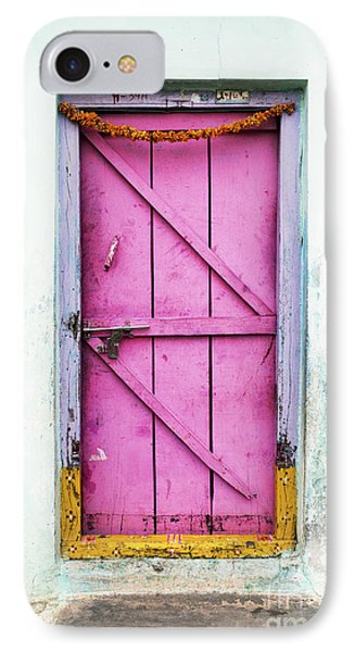A Pink Door IPhone Case by Tim Gainey