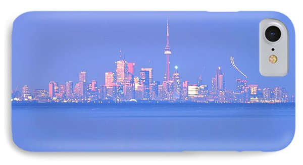A Plan Overcast The City Sky Line  IPhone Case by Puzzles Shum