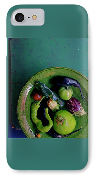 A Plate Of Vegetables IPhone Case by Romulo Yanes