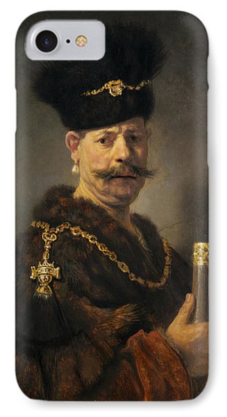 A Polish Nobleman IPhone Case by Rembrandt