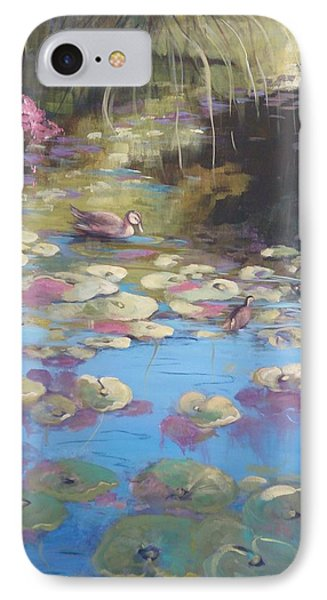 A Pond Reflection IPhone Case by Kathy  Karas