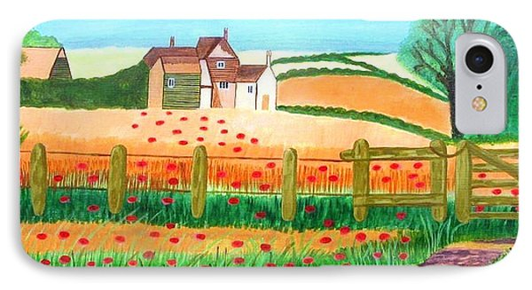 IPhone Case featuring the painting A Poppy Field by Magdalena Frohnsdorff