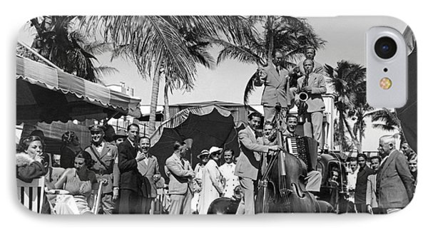 A Portable Jazz Band In Miami IPhone Case by Underwood Archives