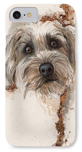 A Portrait Of A Dog IPhone Case by Angel  Tarantella