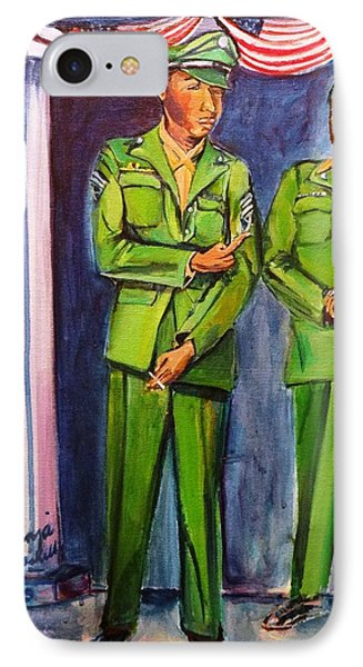 Daddy Soldier IPhone Case by Ecinja Art Works