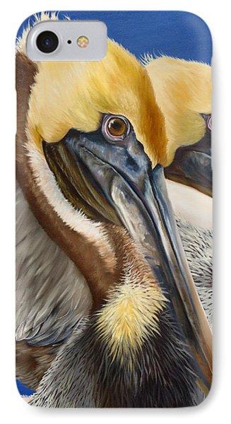 A Portrait Of Two Pelicans IPhone Case