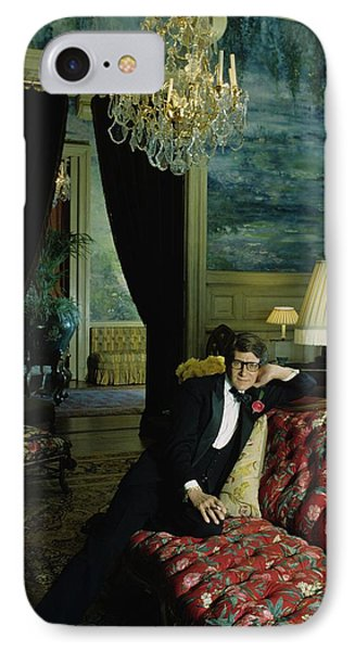 A Portrait Of Yves Saint Laurent At His Home IPhone Case by Horst P. Horst