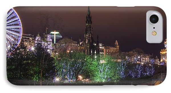 A Princes Street Gardens Christmas IPhone Case by Ross G Strachan
