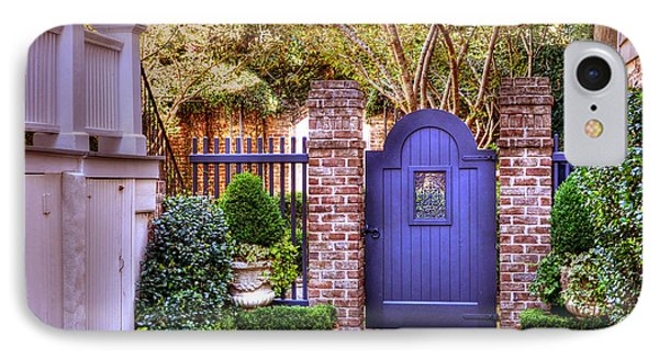 IPhone Case featuring the photograph A Private Garden In Charleston by Kathy Baccari