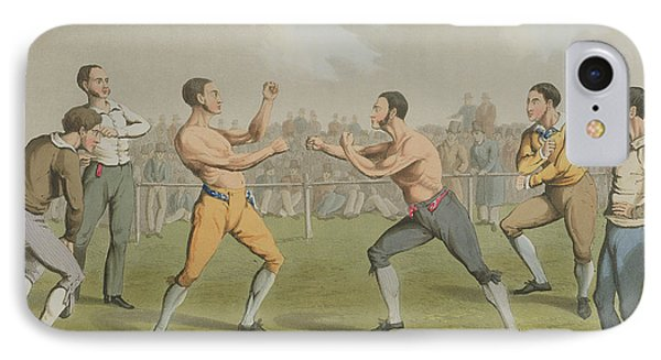 A Prize Fight Aquatinted By I Clark Phone Case by Henry Thomas Alken