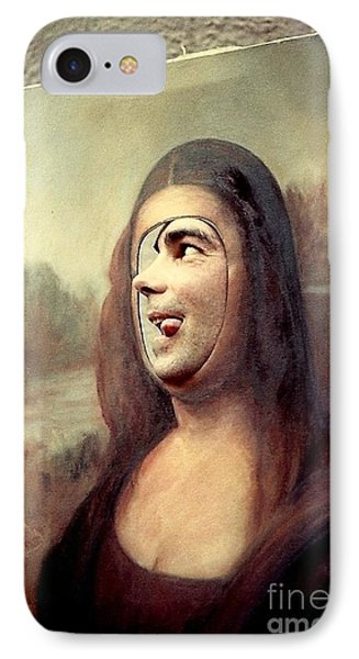 A Profile Of Mona Lisa Phone Case by Michael Hoard