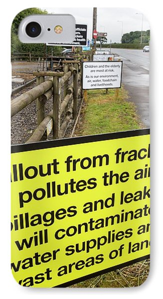 A Protest Banner Against Fracking IPhone Case by Ashley Cooper
