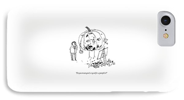 A Pumpkin With A Face And Legs Holds A Paintbrush IPhone Case