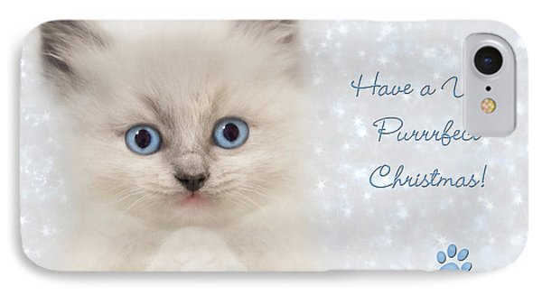 A Purrrfect Christmas Phone Case by Lori Deiter