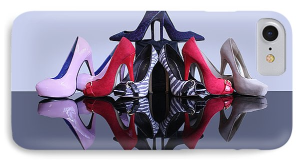 A Pyramid Of Shoes Phone Case by Terri Waters