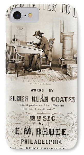 A Quaker Letter To Lincoln, Words By Elmer Ruán Coates IPhone Case