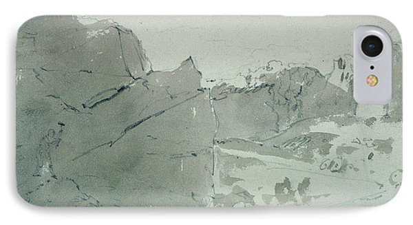 A Quarry For Mill-stones In Derbyshire IPhone Case by John Constable