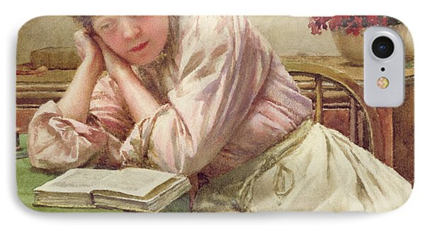 A Quiet Read IPhone Case by Walter Langley