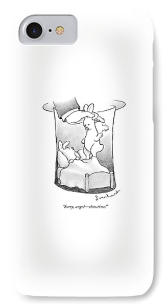 A Rabbit Is Being Pulled Out Of A Hat IPhone Case by David Borchart