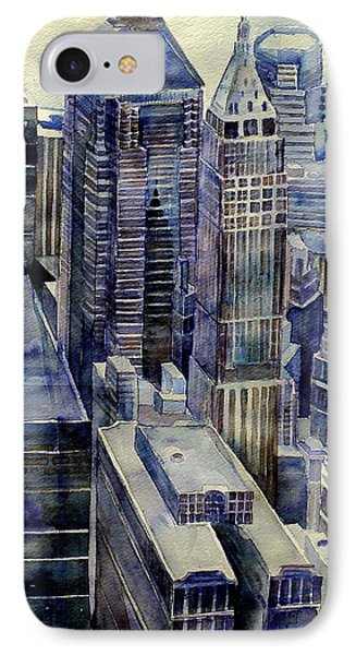 Rainy Day In Gotham IPhone Case by Jeffrey S Perrine