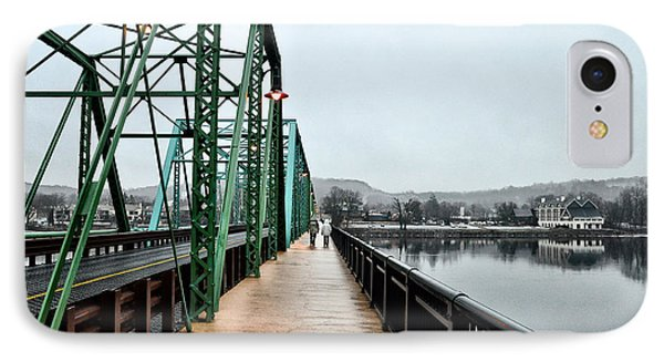 A Rainy Day In New Hope IPhone Case by Bill Cannon
