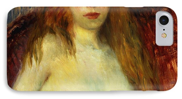 A Red-haired Model IPhone Case by William James Glackens