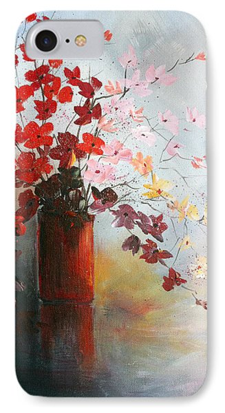 IPhone Case featuring the painting A Red Vase by Dorothy Maier