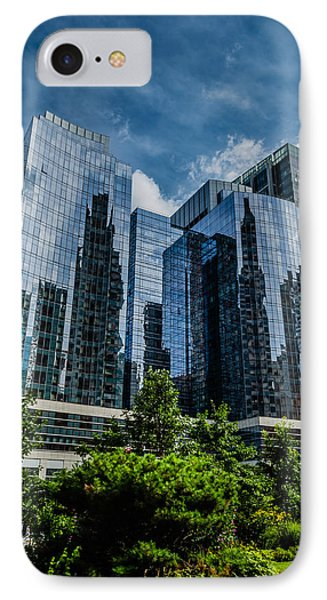 A Reflection Of Boston IPhone Case by Alan Marlowe