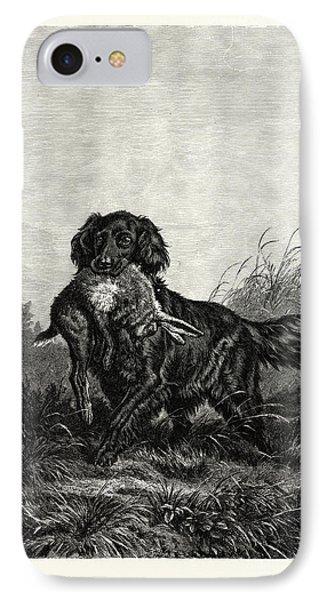 A Retriever. After Deiker. A Type Of Gun Dog That Retrieves IPhone Case by English School