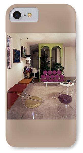A Retro Living Room IPhone Case by Tom Leonard