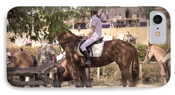A Rider On A Horse IPhone Case