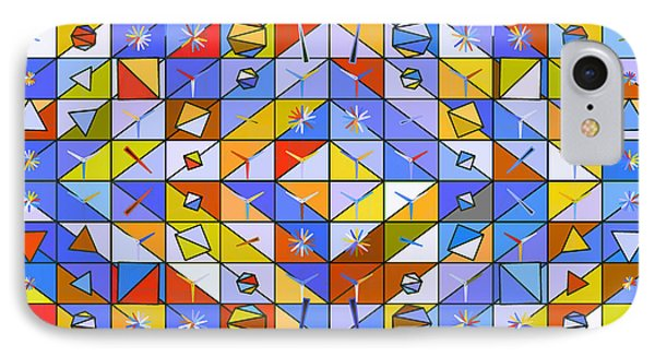 IPhone Case featuring the digital art A Riot Of Shapes by Mario Carini