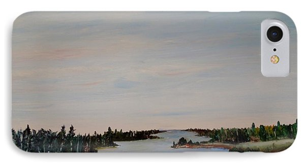 IPhone Case featuring the painting A River Shoreline by Marilyn  McNish