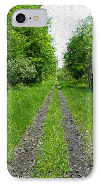 A Road Painted - Digital Painting Effect Phone Case by Rhonda Barrett