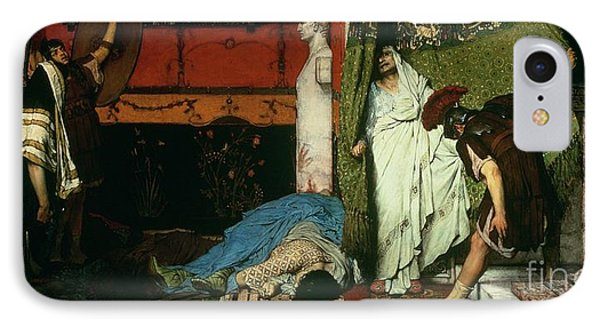 A Roman Emperor   Claudius IPhone Case by Sir Lawrence Alma Tadema