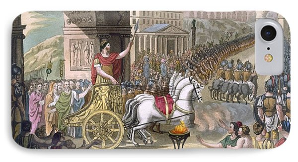A Roman Triumph, Illustration IPhone Case by Jacques Grasset de Saint-Sauveur