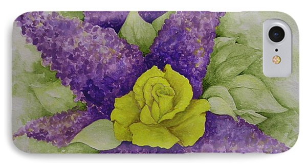 A Rose Among The Lilacs IPhone Case