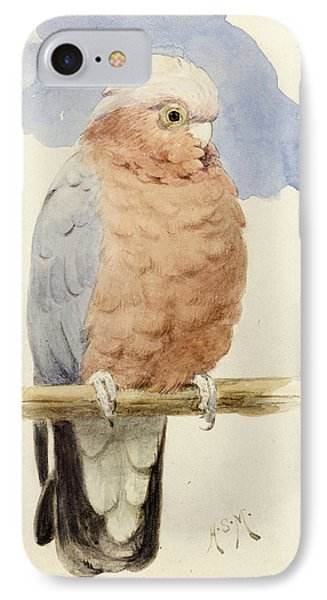 A Rose Breasted Cockatoo Phone Case by Henry Stacey Marks
